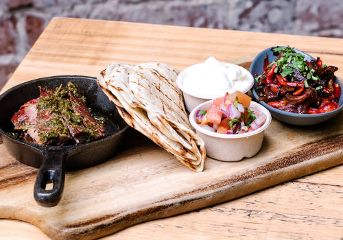 The Lucky Hotel, Newcastle. On Tuesday's, Choose From Succulent Steak OR Tasty Mushroom Fajitas Served With Grilled Onions And Capsicum, Pico De Gallo, Guacamole, Flour Tortillas + Lime!