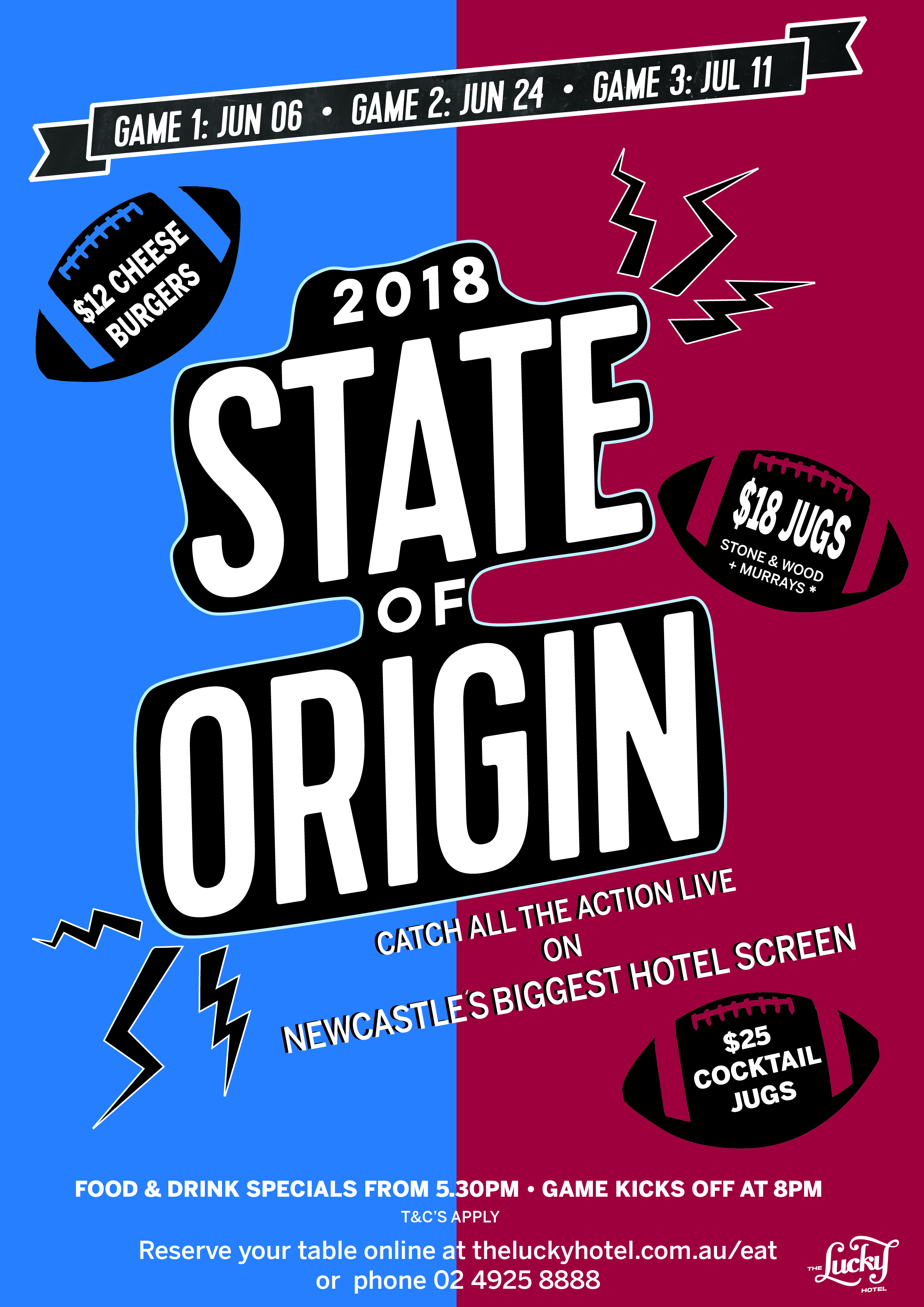 State Of Origin 2018 At The Lucky