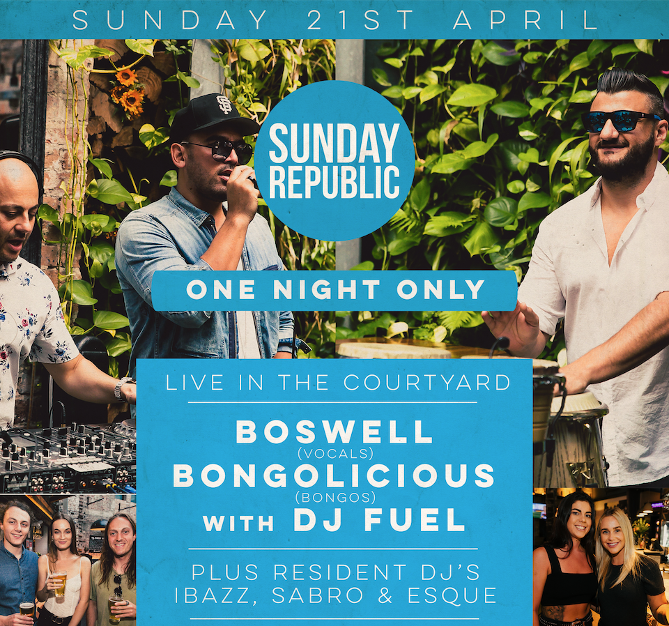 Sunday Republic – One Night Only!